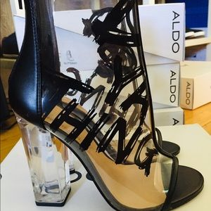 Aldo Do ya thing Clear Heels - Brand New!!